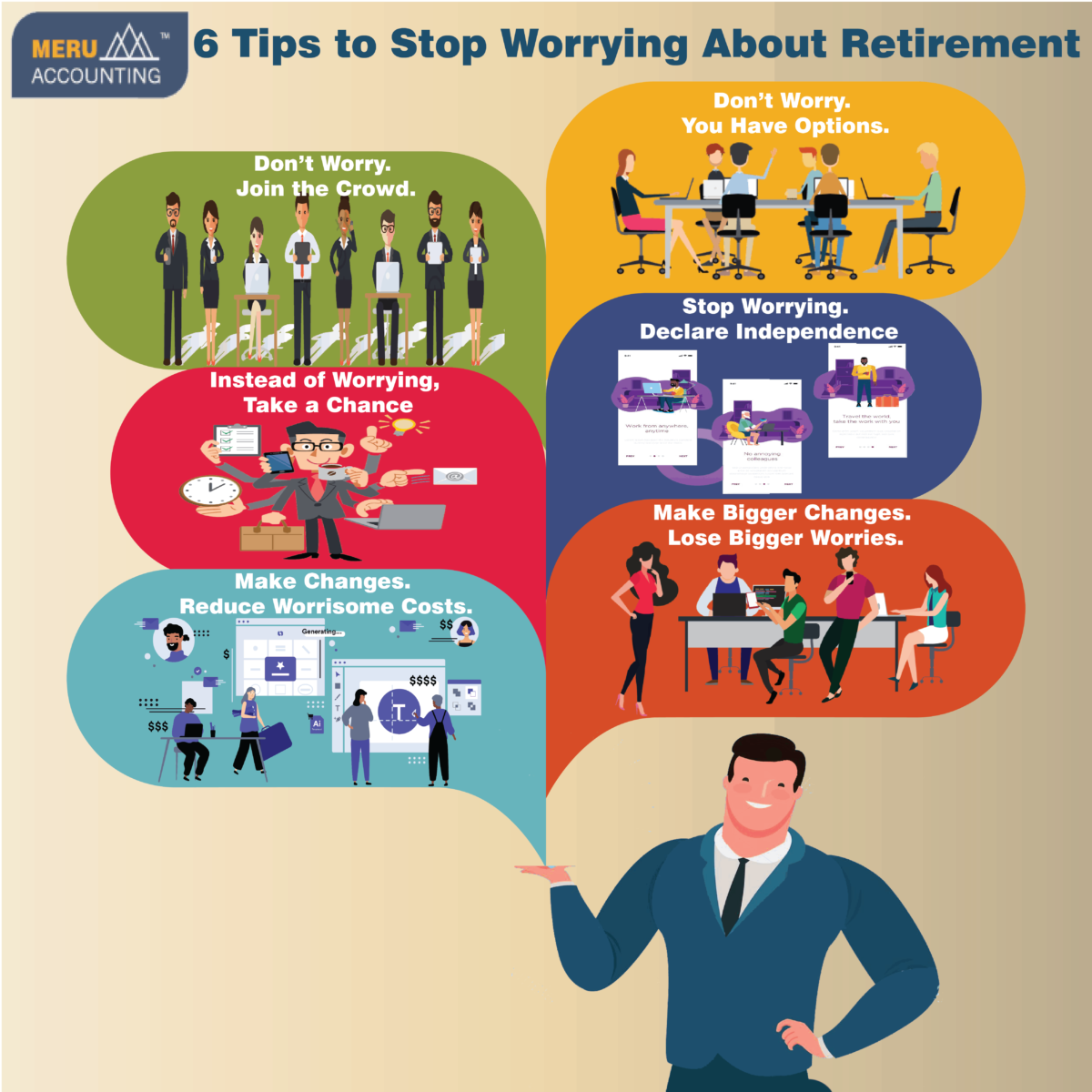 6 Tips to Stop Worrying About Retirement 1250x1250