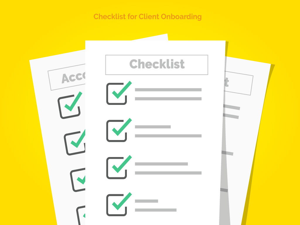 Checklist for client onboarding