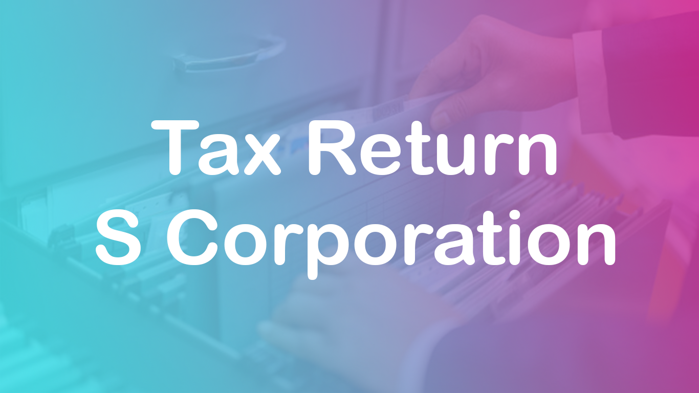 How to Tax return for S corp